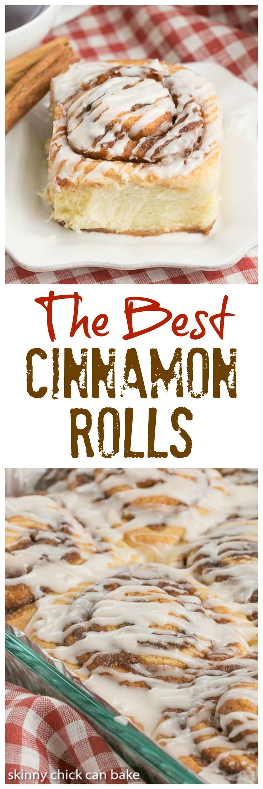 The Best Cinnamon Rolls - Tender, buttery dough filled with brown sugar and cinnamon and drizzled with a simple glaze #cinnamonrolls #breakfast #brunch