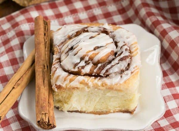 Cinnamon Rolls | Tender, buttery dough filled with brown sugar and cinnamon and drizzled with a simple glaze