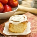 Nectarine cinnamon rolls