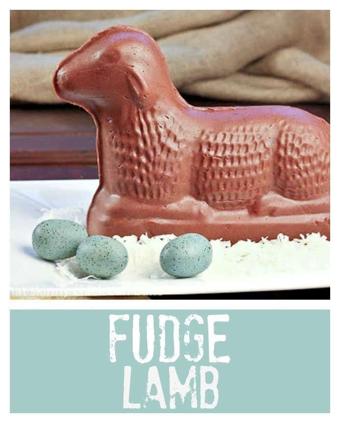 Fudge Lamb pinterest image with text