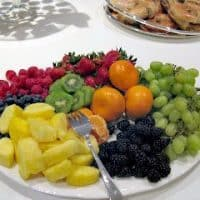 Jewelry Party | I always serve a healthy platter of fruit