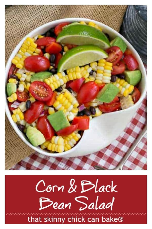 Corn and Black Bean Salad Pinterest collage