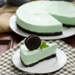 Grasshopper Pie | Mint lovers will swoon with every bite of this frozen dessert!