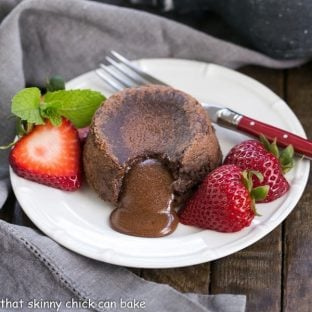 "Classic Lava Cakes Recipe | Individual Chocolate Cakes filled with molten chocolate ""lava."""