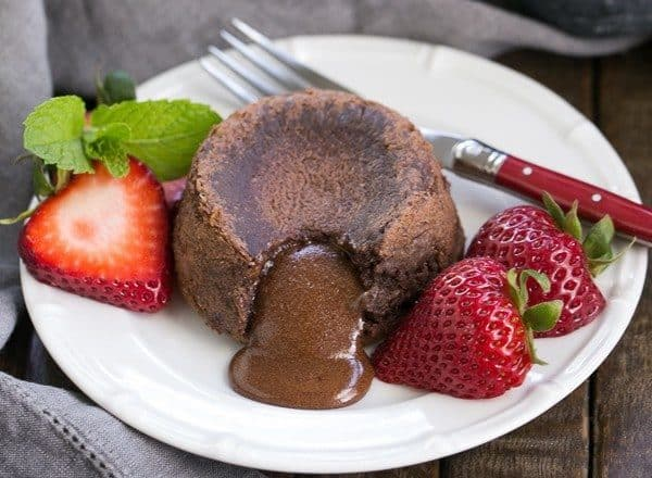 """Classic Lava Cakes Recipe   Individual Chocolate Cakes filled with molten chocolate """"lava."""""""