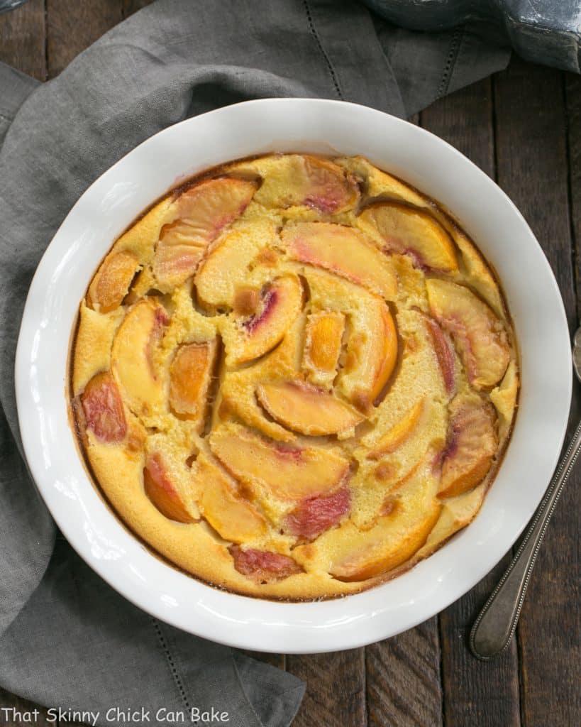 Fresh Peach Clafoutis   A classic French dessert with a peach twist!