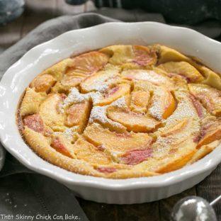 Fresh Peach Clafoutis | A classic French dessert with a peach twist!