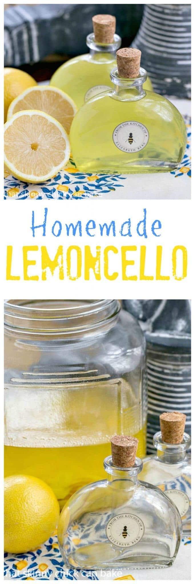 Homemade Limoncello Liqueur