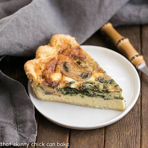 Spinach Mushroom Quiche That Skinny Chick Can Bake
