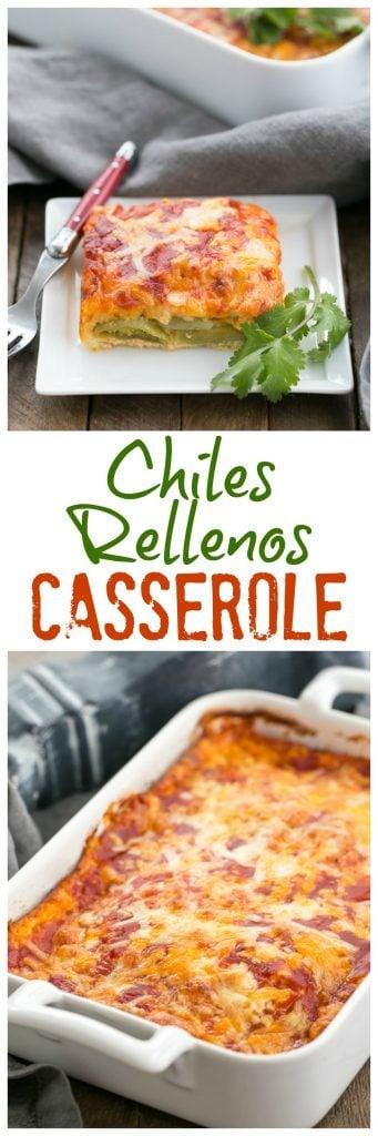 Chiles Rellenos Casserole | A super easy version of the classic Tex-Mex dish