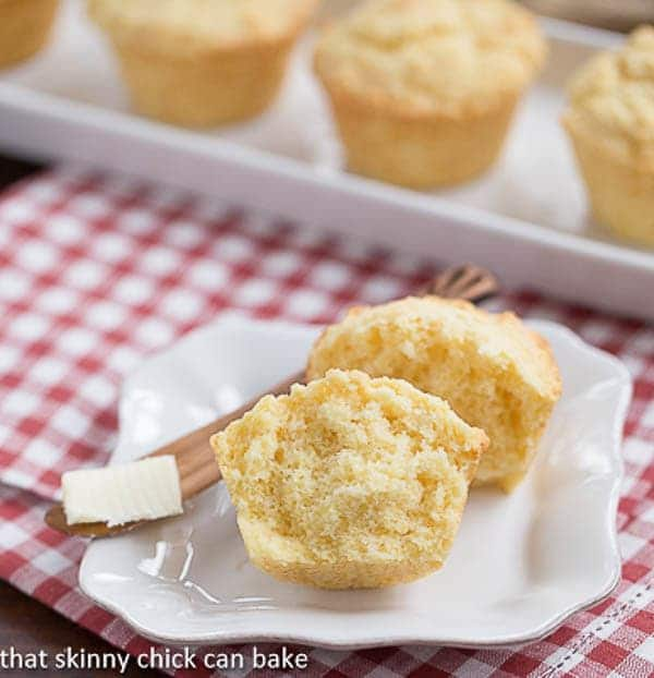 Corn Muffins | Tender from the buttermilk with a touch of sweetness!