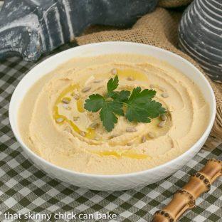 Hummus   Classic Hummus simply flavored with lemon and garlic