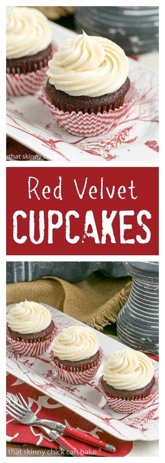 Red Velvet Cupcakes | The quintessential red velvet cupcakes made with ...