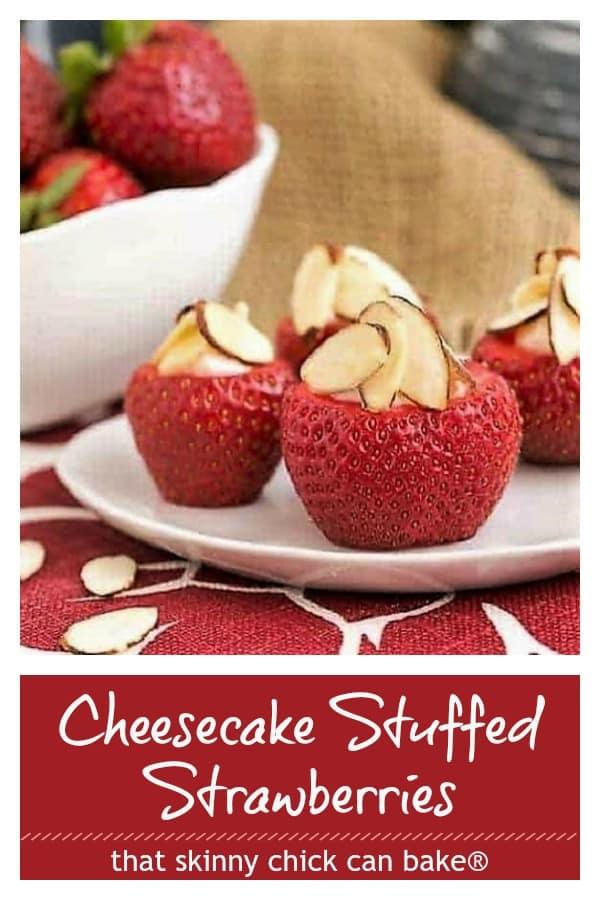 Easy Cheesecake Stuffed Strawberries Pinterest collage