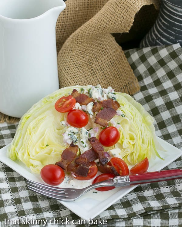 Iceberg Wedge with Blue Cheese Dressing   Make this restaurant salad option at home!