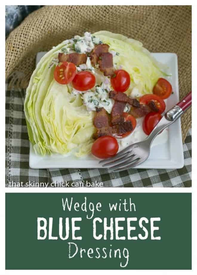 Iceberg Wedge with Blue Cheese Dressing | Make this restaurant salad option at home!