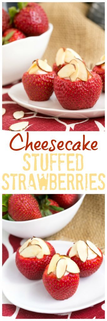 Cheesecake Stuffed Strawberries | An easy, irresistible sweet treat!