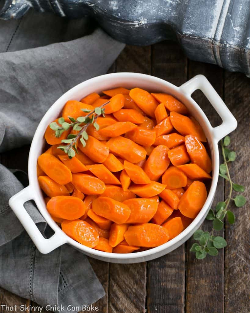 Bourbon Maple Glazed Carrots | An easy way to transform carrots into a restaurant worthy side dish!