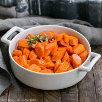 Bourbon Maple Glazed Carrots   An easy way to transform carrots into a restaurant worthy side dish!