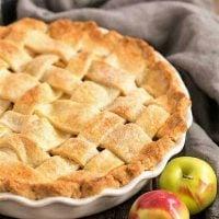 Perfect Apple Pie in a ceramic pie plate