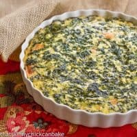 Spinach Souffle - An easy, cheesy spinach casserole that makes a terrific side dish! Perfect for the holidays.