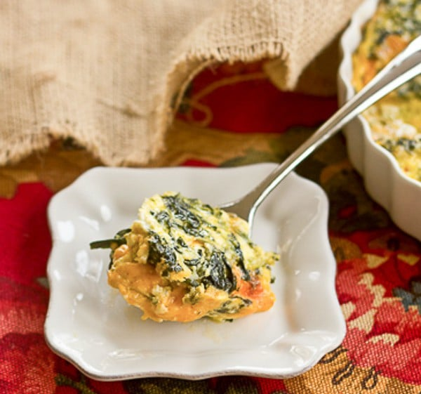 Spinach Souffle - An easy, cheesy side dish!