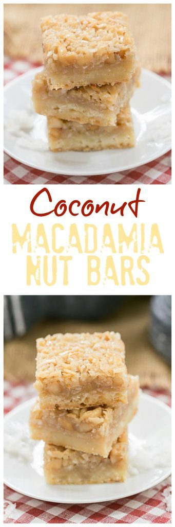 Coconut Macadamia Nut Bars | Coconut lovers' dream bars!