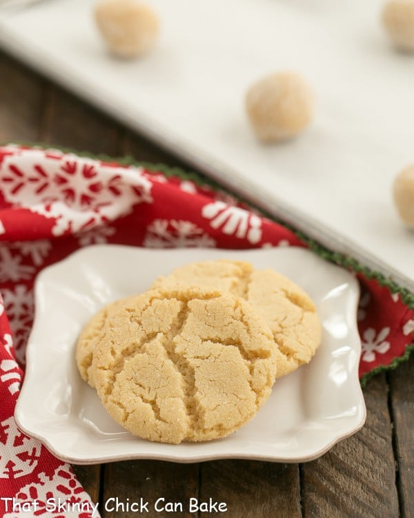 Chewy Butterscotch cookies on a white plate
