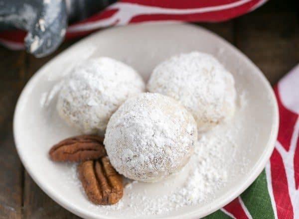 Pecan Snowballs   The classic melt in your mouth holiday cookie known by many names!