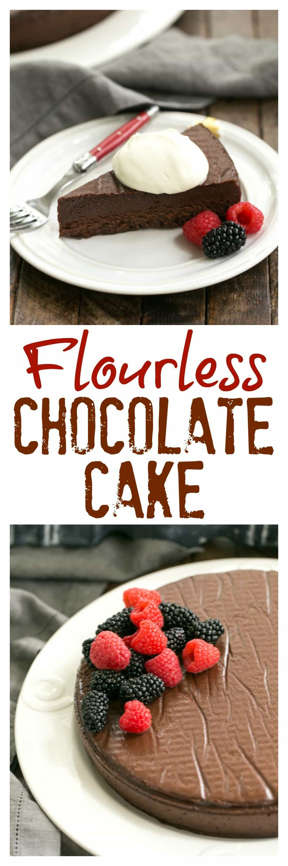 Flourless Cake Chocolate from Princeville Hotel - 5 simple ingredients make for one decadent, outrageously delicious dessert! #flourlesschocolatecake #chocolate #glutenfree #chocolatecake