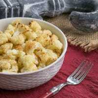 Roasted Cauliflower with Parmesan and Bread Crumbs