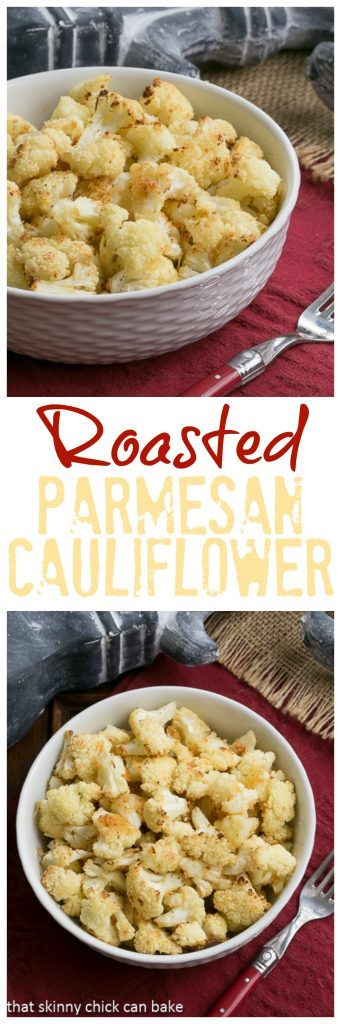 Roasted Cauliflower with Parmesan and Bread Crumbs! My cauliflower avoiding husband became a convert due to this amazing recipe!