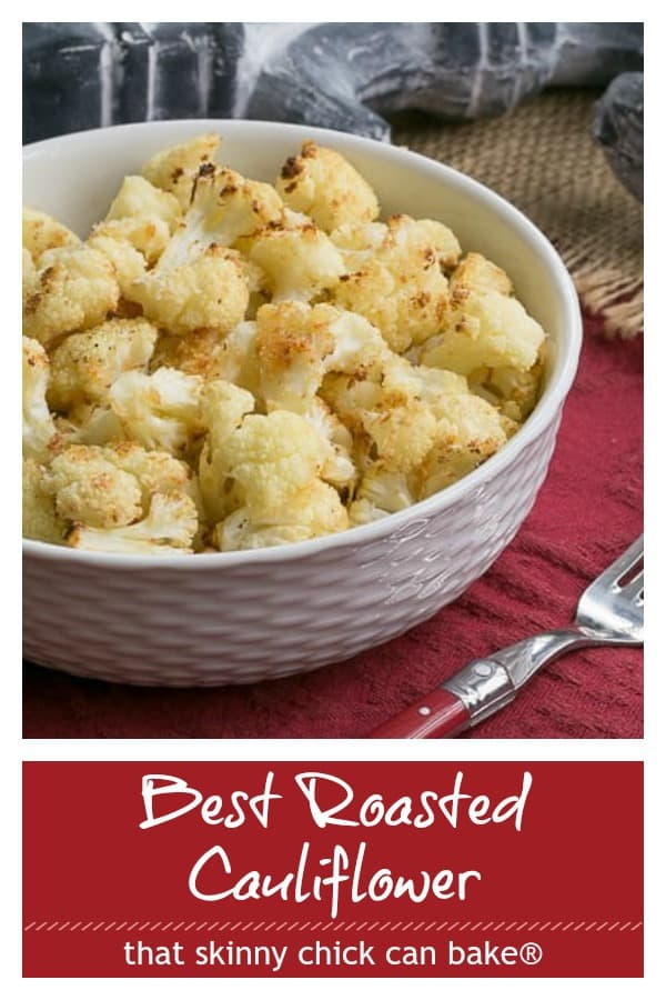 Roasted cauliflower pinterest collage