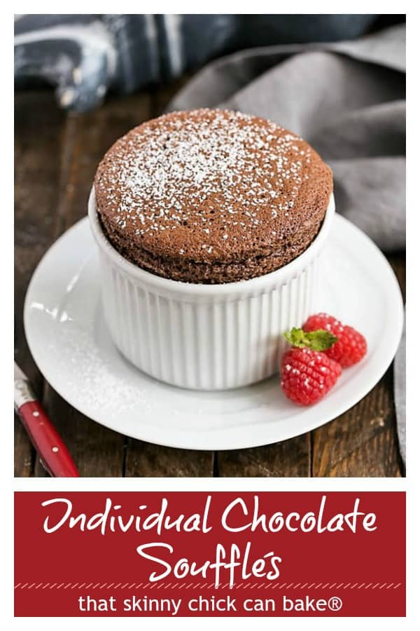 Individual Chocolate Souffles Pinterest collage