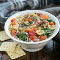 Italian Sausage and Pasta Soup | An easy, comforting meal!