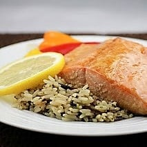 Easy Glazed salmon 2011