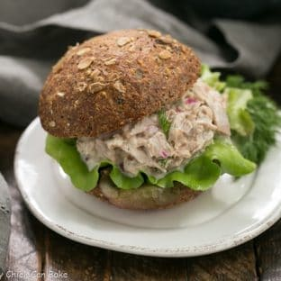 Easy Tuna Salad with Fresh Dill - a simple way to shake up your tuna salad with herbs, pickled onion and a squeeze of lemon