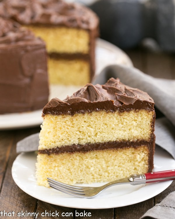 Yellow cake with chocolate icing recipe from scratch