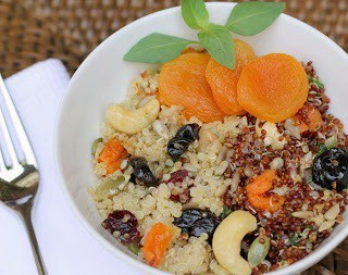 Quinoa, Fruit and Nut Salad - That Skinny Chick Can Bake