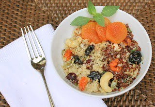 Quinoa, Fruit and Nut Salad  That Skinny Chick Can Bake
