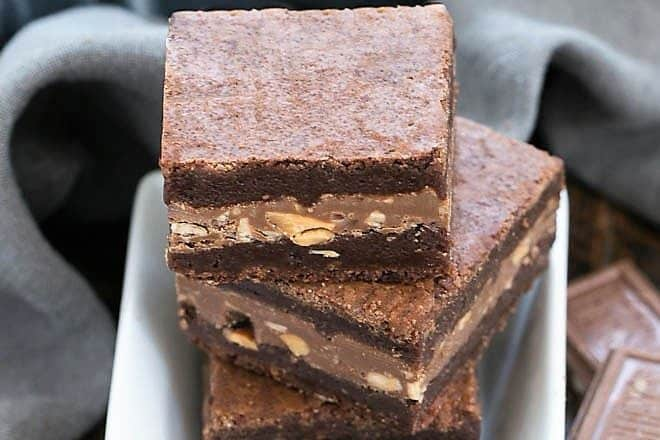 Symphony Toffee Brownies in a small square bowl