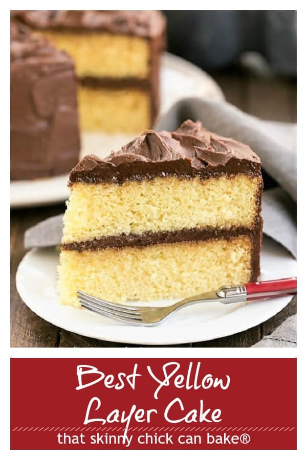 Perfect Yellow Cake pinterest collage