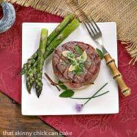 Beef Tenderloin Filets with Garlic Butter and Herbs