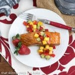 Glazed Salmon with Fruit Salsa