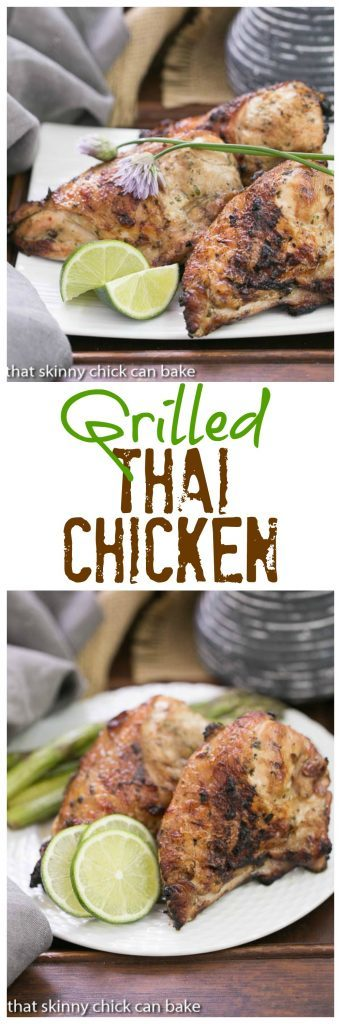 Grilled Thai Chicken | Scrumptious, Asian inspired, marinated and grilled chicken!