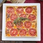 Tomato Tart with Gruyère