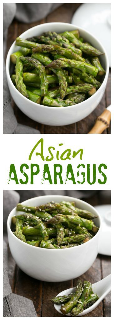 Asian Stir Fried Asparagus | An easy side dish with soy, garlic and sherry.