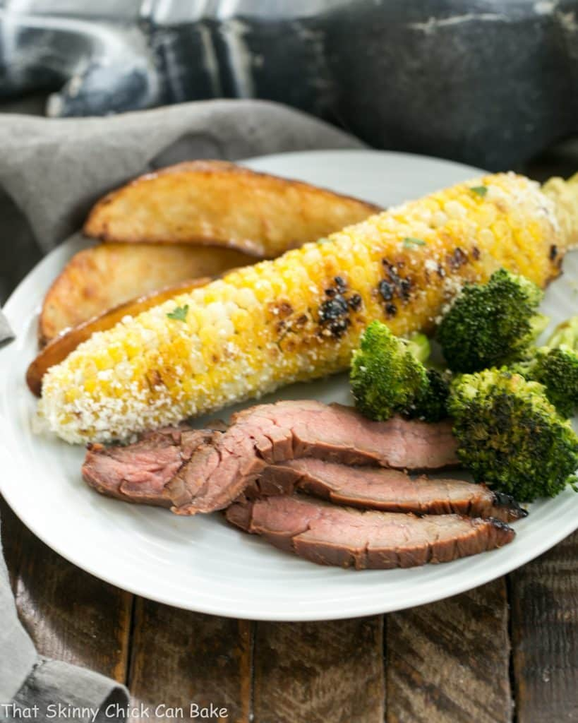 Marinated Grilled Ginger Flank Steak | An easy, elegant, restaurant worthy entree you can easily make at home!
