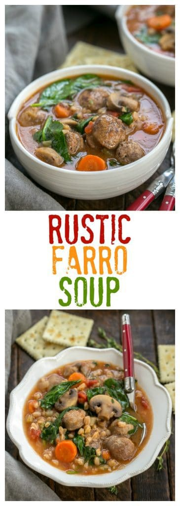 Rustic Farro Soup | A comforting, flavorful soup with an Italian flair!