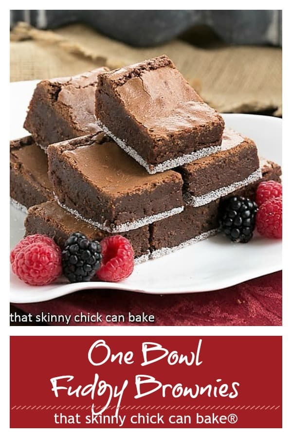 One bowl fudgy brownies pinterest collage